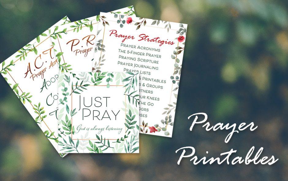 Prayer Printables Pack